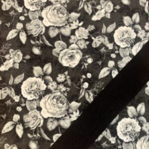 Gray Floral *Luxe* w/black
