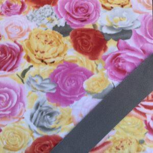 Yellow Rose w/gray