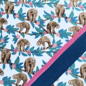 Sloths Doubles w/ocean & pink